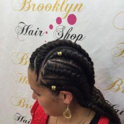 Natte et tresse fait chez brooklyn hair shop